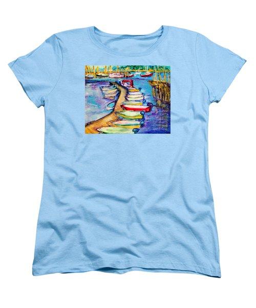 On The Boardwalk Women's T-Shirt (Standard Cut) by Helena Bebirian