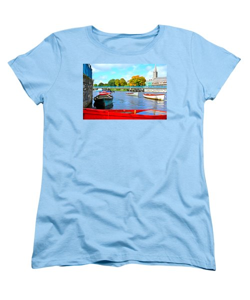 Women's T-Shirt (Standard Cut) featuring the photograph On The Garavogue by Charlie and Norma Brock