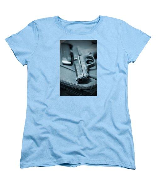 On The Lam Women's T-Shirt (Standard Cut) by Trish Mistric