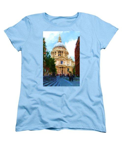 On The Steps Of Saint Pauls Women's T-Shirt (Standard Cut) by Jenny Armitage