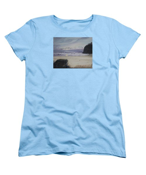 Women's T-Shirt (Standard Cut) featuring the painting Oregon Coast by Ian Donley