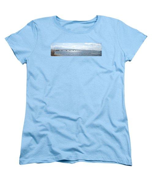 Oresundsbron Panorama 01 Women's T-Shirt (Standard Cut) by Antony McAulay