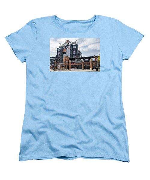 Oriole Park At Camden Yards Women's T-Shirt (Standard Cut) by Susan Candelario