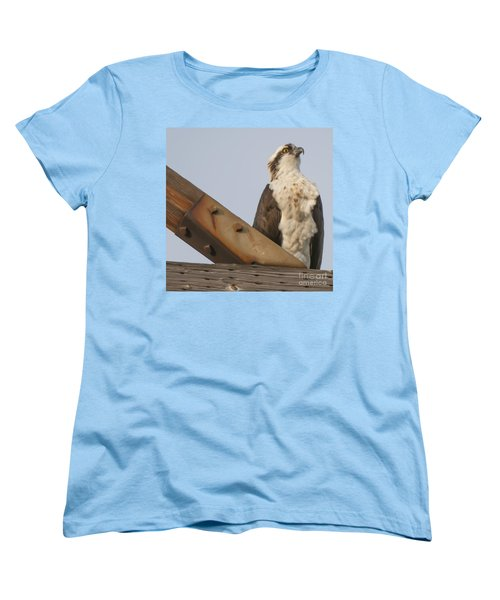 Women's T-Shirt (Standard Cut) featuring the photograph Osprey -seahawk by Dale Powell
