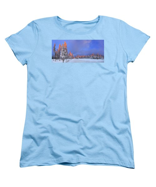 Other Side Of A Winter Sunset Women's T-Shirt (Standard Cut) by David Andersen