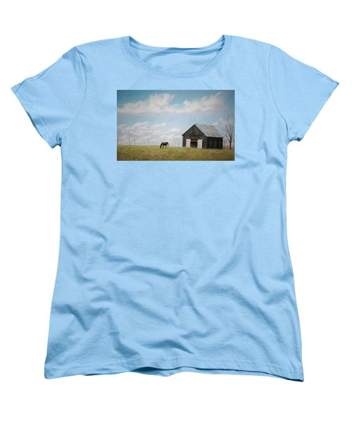 Women's T-Shirt (Standard Cut) featuring the pastel Out For Breakfast by Stacy C Bottoms
