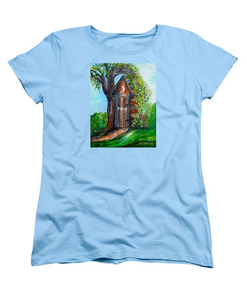 Outhouse - Privy - The Old Out House Women's T-Shirt (Standard Cut) by Eloise Schneider