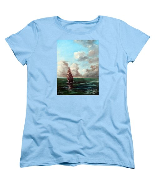 Outrunning The Storm Women's T-Shirt (Standard Cut) by Lee Piper