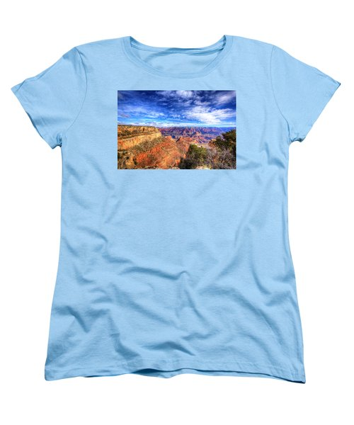 Over The Edge Women's T-Shirt (Standard Cut) by Dave Files