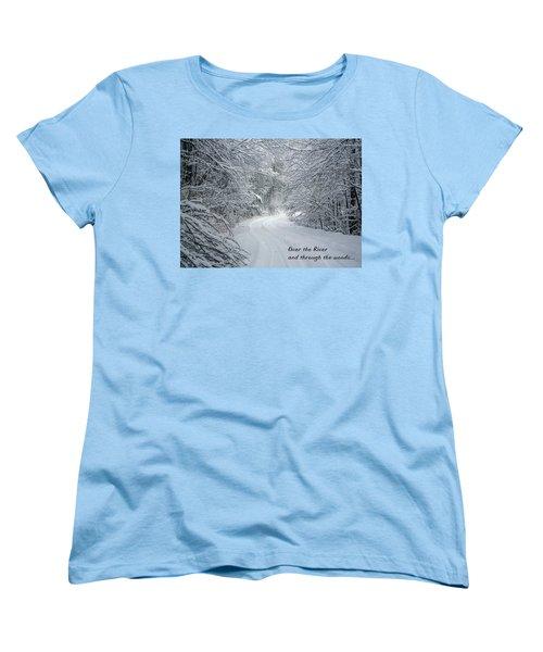 Over The River Women's T-Shirt (Standard Cut) by John Haldane