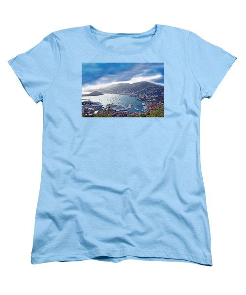 Overlooking The Bay Women's T-Shirt (Standard Cut) by Aimee L Maher Photography and Art Visit ALMGallerydotcom