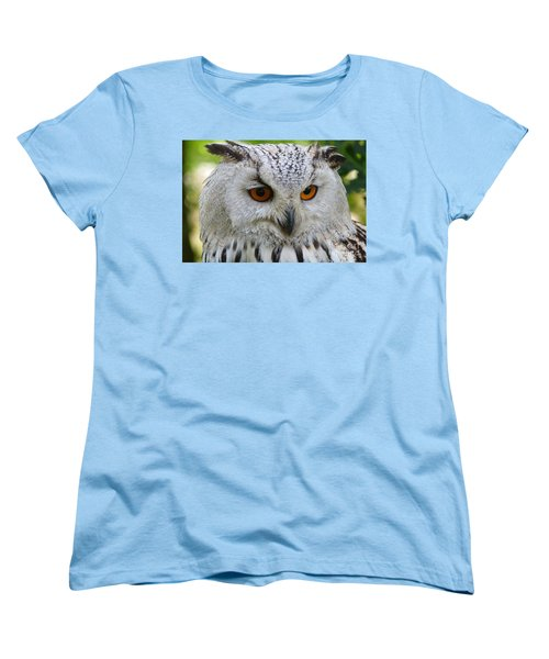 Women's T-Shirt (Standard Cut) featuring the photograph Owl Bird Animal Eagle Owl by Paul Fearn