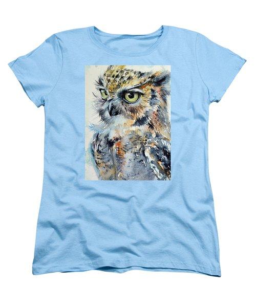 Owl Women's T-Shirt (Standard Cut) by Kovacs Anna Brigitta