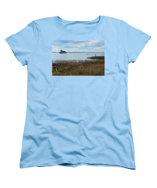 Oyster Shack And Tall Grass Women's T-Shirt (Standard Cut) by Photographic Arts And Design Studio