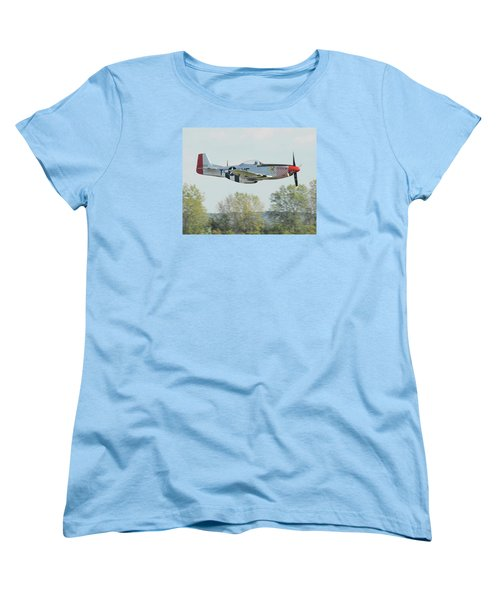 P-51d Mustang Shangrila Women's T-Shirt (Standard Cut) by Alan Toepfer