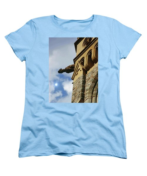 Packer Memorial Church Gargoyle Women's T-Shirt (Standard Cut) by Jacqueline M Lewis