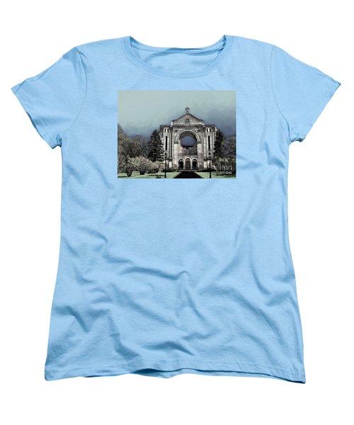 Women's T-Shirt (Standard Cut) featuring the digital art Painted Basilica 2 by Teresa Zieba