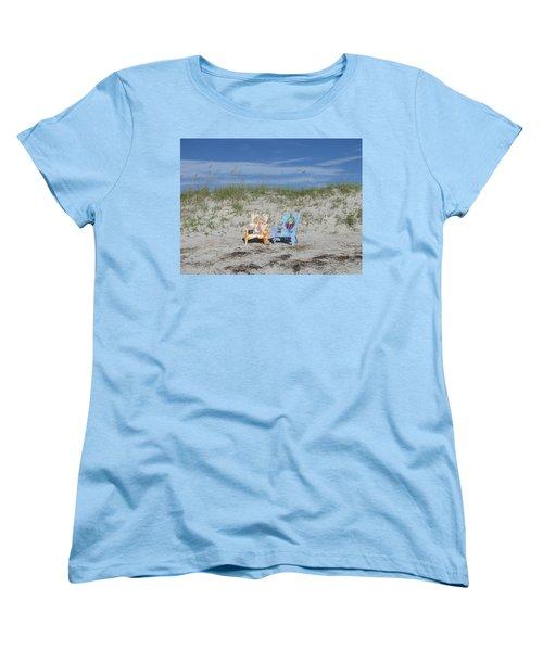 Painted Beach Chairs Women's T-Shirt (Standard Cut)