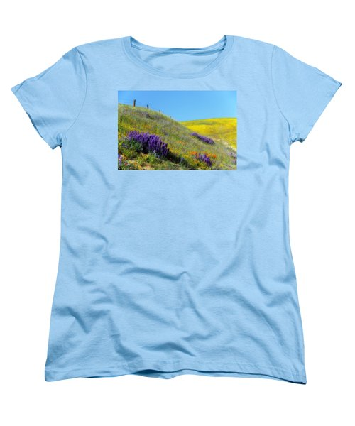 Painted With Wildflowers Women's T-Shirt (Standard Cut) by Lynn Bauer