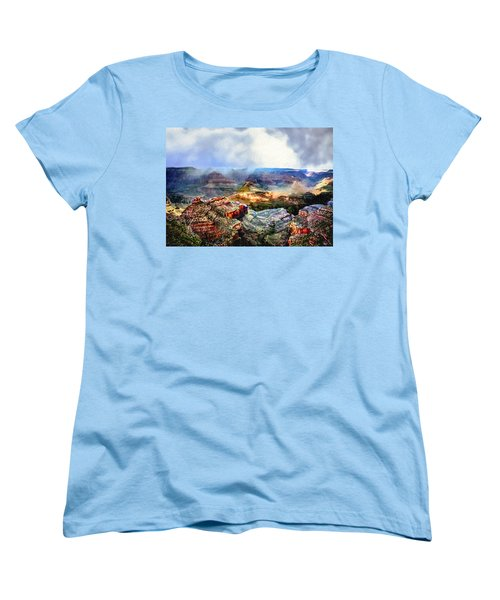 Painting The Grand Canyon Women's T-Shirt (Standard Cut) by Bob and Nadine Johnston