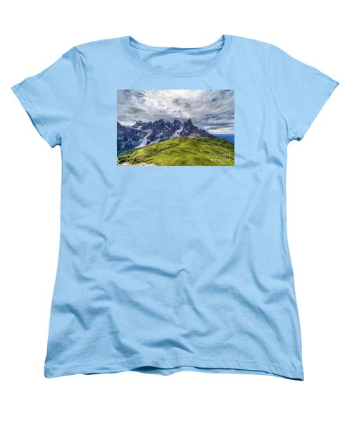 Women's T-Shirt (Standard Cut) featuring the photograph Pale San Martino - Hdr by Antonio Scarpi