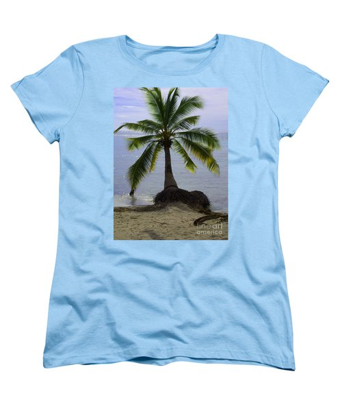 Palm At The Edge Of The Sea Number Two Women's T-Shirt (Standard Cut) by Heather Kirk