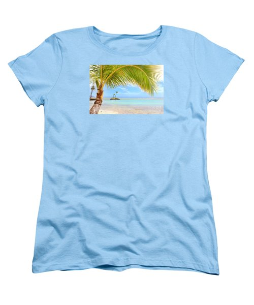 Women's T-Shirt (Standard Cut) featuring the photograph Palm Tree by Kristine Merc