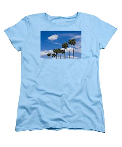Palm Trees In San Diego California No. 1661 Women's T-Shirt (Standard Cut)