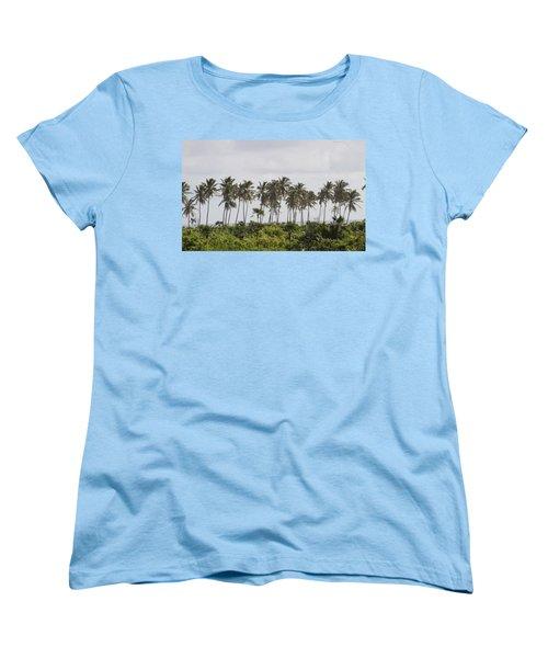 Palm Trees Women's T-Shirt (Standard Cut) by Mustafa Abdullah