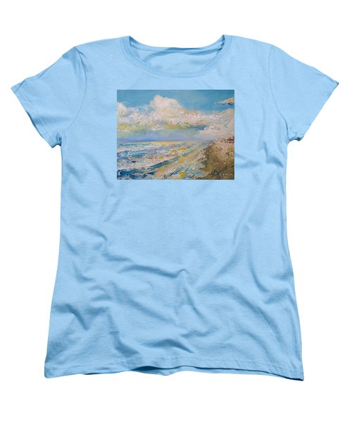 Panama City Beach Women's T-Shirt (Standard Cut) by Alan Lakin