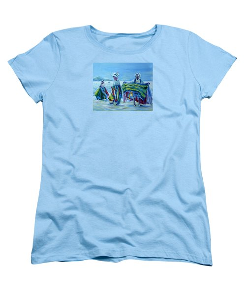 Panama.beach Market Women's T-Shirt (Standard Cut) by Anna  Duyunova