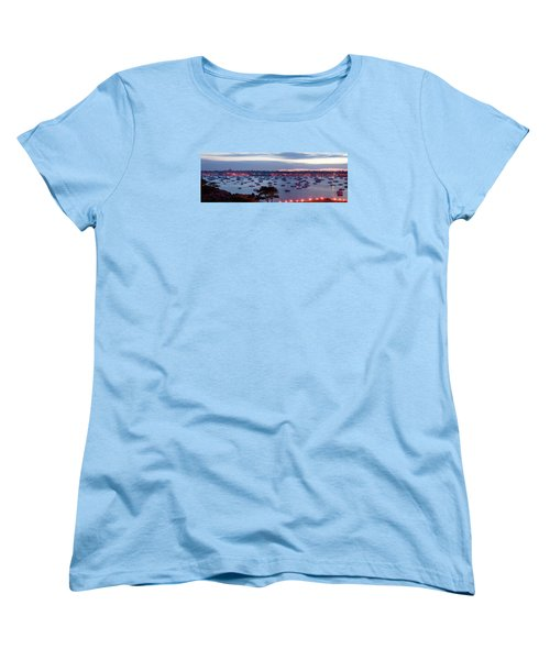 Panoramic Of The Marblehead Illumination Women's T-Shirt (Standard Cut) by Jeff Folger