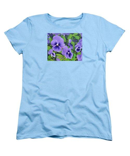 Pansies Schmanzies Women's T-Shirt (Standard Cut) by Donna  Manaraze