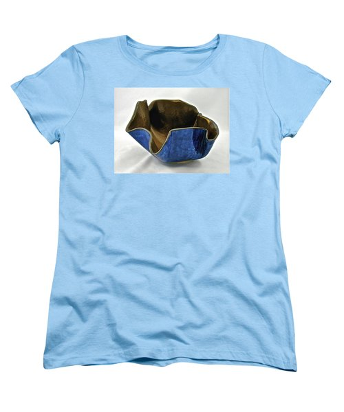Women's T-Shirt (Standard Cut) featuring the sculpture Paper-thin Bowl  09-005 by Mario Perron