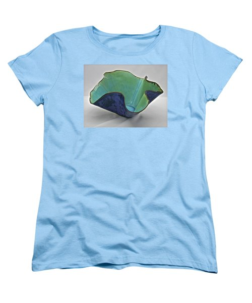 Women's T-Shirt (Standard Cut) featuring the sculpture Paper-thin Bowl  09-006 by Mario Perron