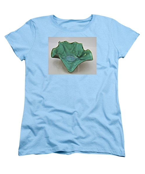 Women's T-Shirt (Standard Cut) featuring the sculpture Paper-thin Bowl  09-009 by Mario Perron