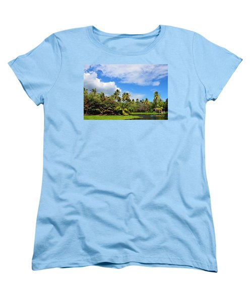 Women's T-Shirt (Standard Cut) featuring the photograph Paradise Lagoon by David Lawson