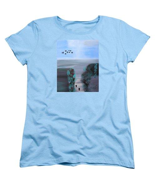 Paradise Women's T-Shirt (Standard Cut) by Lorna Maza