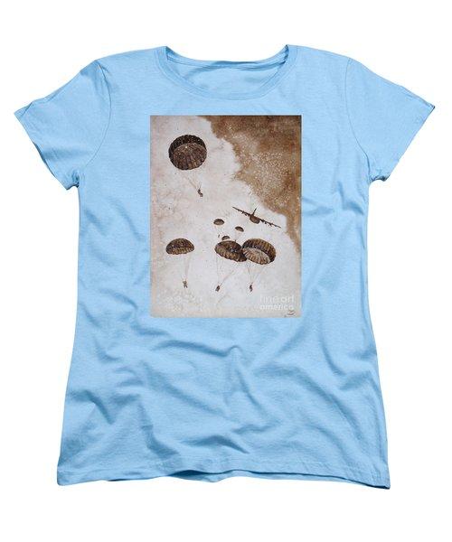 Paratroopers Women's T-Shirt (Standard Cut) by Zaira Dzhaubaeva