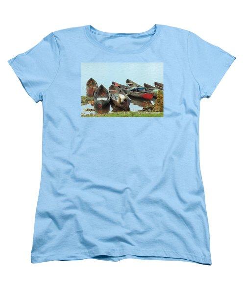 Parking Boats Women's T-Shirt (Standard Cut) by Jola Martysz