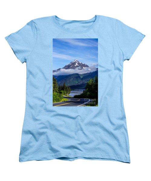 Path Through Alaska Women's T-Shirt (Standard Cut) by Jennifer White