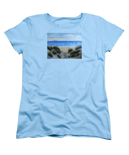 Path Through The Sand Dunes Women's T-Shirt (Standard Cut) by Pamela  Meredith