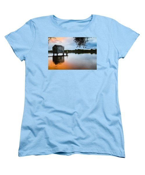 Peace At Pete's Jetty Women's T-Shirt (Standard Cut) by Peta Thames