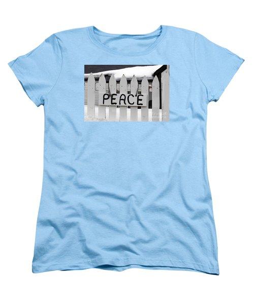Women's T-Shirt (Standard Cut) featuring the photograph Peace by Fiona Kennard