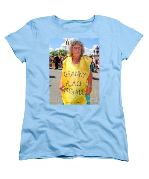 Women's T-Shirt (Standard Cut) featuring the photograph Peace Granny by Ed Weidman