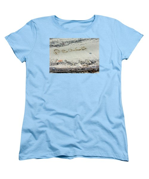 Peace On Earth Women's T-Shirt (Standard Cut) by Melinda Fawver