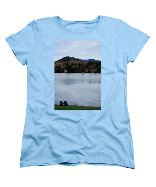Peaceful Evening At The Lake Women's T-Shirt (Standard Cut) by Terry DeLuco
