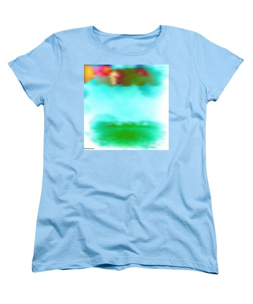 Women's T-Shirt (Standard Cut) featuring the digital art Peaceful Noise by Anita Lewis