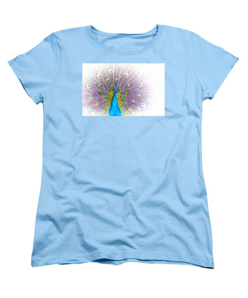 Peacock Women's T-Shirt (Standard Cut) by Holly Kempe