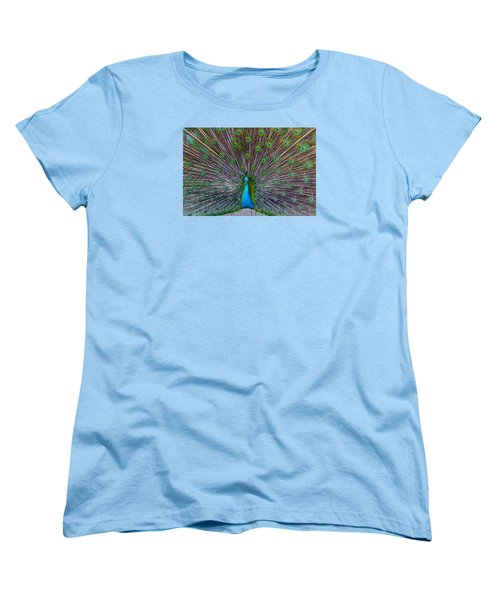 Peacock Women's T-Shirt (Standard Cut) by Venetia Featherstone-Witty